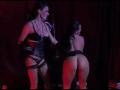 Lesbian leather mistress gets her cunt licked videos