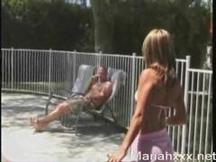 Bikini girl mariah milano oils her body outdoors videos