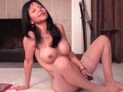 Asian mom with big fake tits fucks a toy tubes at korean.sgirls.net