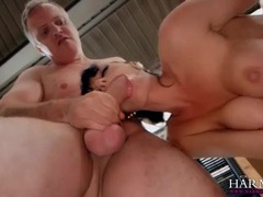 Father and son double penetrate a sexy milf videos