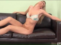 Tall blonde is stunningly leggy in high heels movies at dailyadult.info