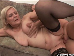 Blonde mature has hot sex in stockings movies at sgirls.net