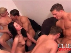 Everyone sucks cock in hot bisexual orgy movies at adipics.com