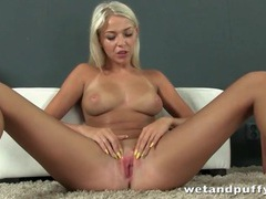 Sweet young blonde with big titties solo videos