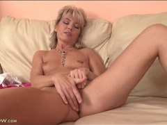 Old lady with tiny tits rubs her pussy movies at kilosex.com