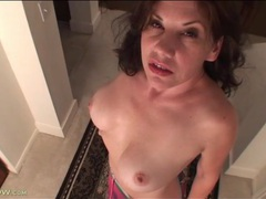 Cute solo milf does a sultry striptease videos