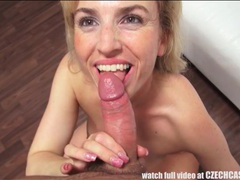 Blonde amateur sucks and fucks in casting session tubes