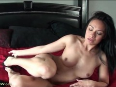 Milf striptease from sexy black lingerie videos