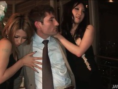 White guy blown by two japanese beauties movies at sgirls.net