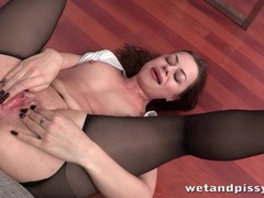 Office cutie in blouse and pantyhose licks piss movies at find-best-hardcore.com