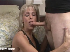Milf swallows dick and gets laid videos