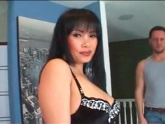 Sultry asian tease in lipstick and lingerie videos