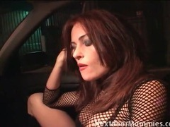 Redhead hooker sucks a dick in the car videos