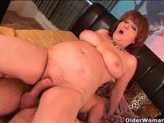 Chubby mommy makes porn with younger man movies at sgirls.net