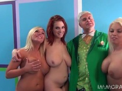 Three naked ladies with big tits give a blowjob movies at kilotop.com