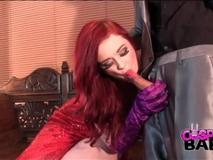 Jessica rabbit costume girl sucks his hard dick videos