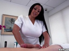 Busty masseuse gently plays with his cock videos