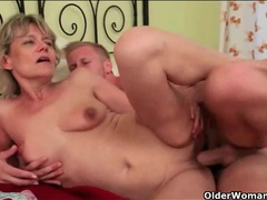 Beautiful old lady fucked by lusty young man videos
