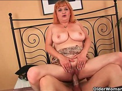 Sexy old lady with big breasts gets laid videos
