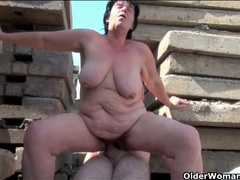 Sex outdoors with thick body grandma slut videos