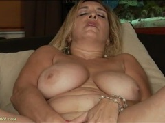Mom babe sophia jewel strips from party dress movies at lingerie-mania.com