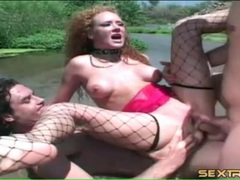 Collared redhead audrey hollander dp outdoors movies at freekilomovies.com