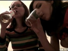 Teen girlfriends film their tight bodies tubes