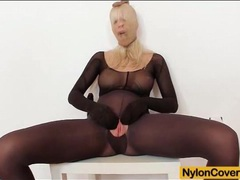 Solo pantyhose fetish porn with big tits blonde movies at find-best-mature.com