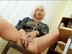 Mature teacher in skintight dress masturbates videos