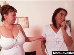 Mature lesbian scene ends with strapon fuck videos
