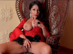 Glamorous milf goddess in red lipstick videos