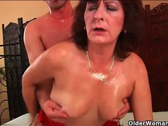 Younger man oils up and fucks an old lady movies at nastyadult.info