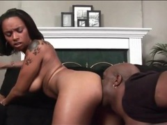Black guy passionately eats her ebony pussy videos