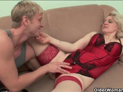 Sexy lingerie granny stripped and fucked videos