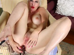 Short hair blonde mature with a toy up her ass movies at sgirls.net