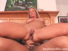 Creamy cunt and ass of a blonde milf fucked movies at sgirls.net