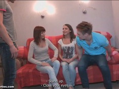 Teen group foreplay with sensual kissing movies at adipics.com