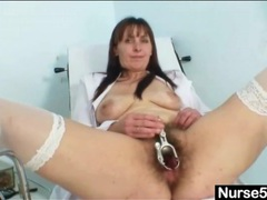 Hairy nurse pussy opened by her speculum videos