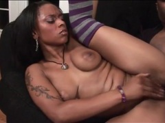 Bbc fucks wet black pussy in close up videos