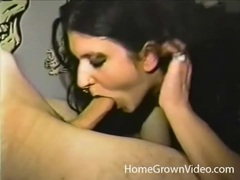 Slutty goth amateur fingered in her cunt tubes