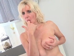 Pretty old lady with saggy boobs rubs her pussy movies at sgirls.net
