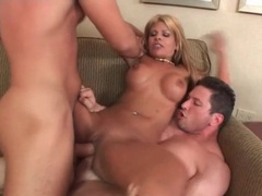 Blonde latina fucked in a double penetration videos