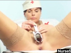 Milf nurse shows cunt in extreme close up videos