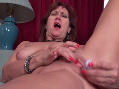 Toy and fingers turn on this masturbating mature movies at sgirls.net