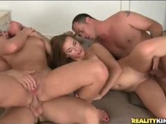 Four naked bodies writhe in sexy fuck video videos