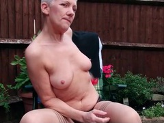 Granny masturbates and pisses outdoors videos