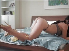Lace panties hug the sexy ass of a hot girl movies