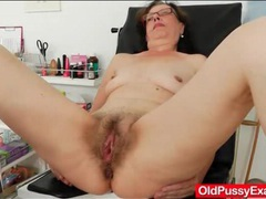 Hairy mature vagina examined by her doctor videos