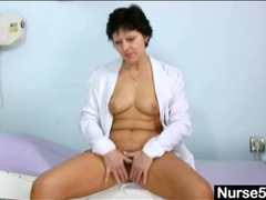 Sexy mature doctor shows inside her cunt videos