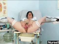 Leather boots and sexy stockings on a nurse videos